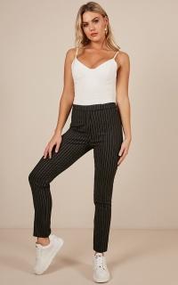 End of Week Pants in black stripe