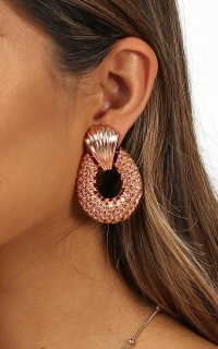 How Much More Earrings in Rose Gold