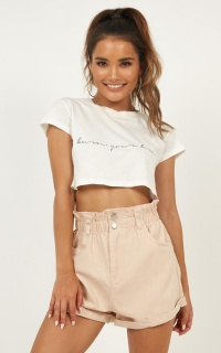 Hold Onto What You Believe Shorts In Blush
