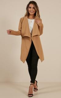 In An Instant coat in camel