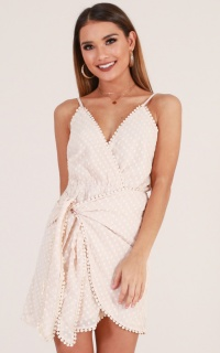 Lost At Sea Dress In Beige