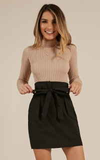 Leave A Trace Skirt In Black