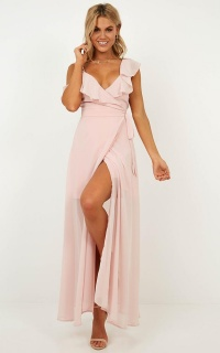 Luxury Life Maxi Dress In Blush