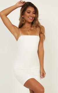 Make You Mine Dress In White