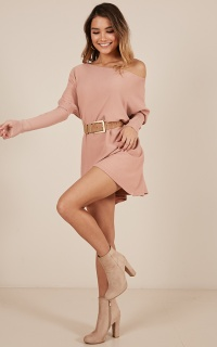 Never Been Better Knit Top In Blush