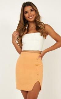 Outdoor Dream Skirt In Sherbet Linen Look