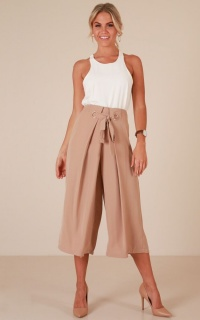 Joyful Day Pants In Beige