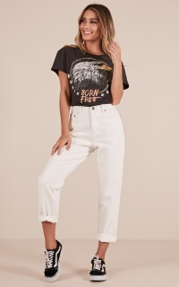 Alice mum jeans in white