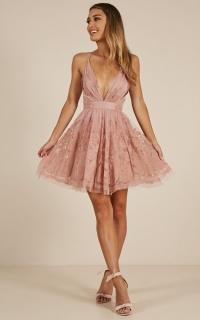 Moon Beam dress in blush