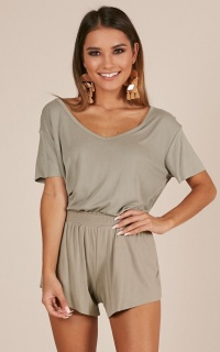 Greet The Sun Two Piece Set In Khaki