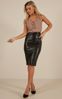 Make It Through Skirt In Black Leatherette