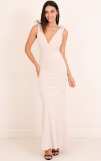 Secret Kiss Maxi Dress in Nude