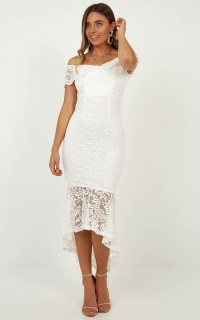 So Lacy Dress In White Lace