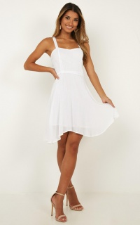 Soaring For You Dress In White