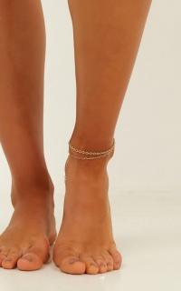 Steer Clear Anklet Set In Gold