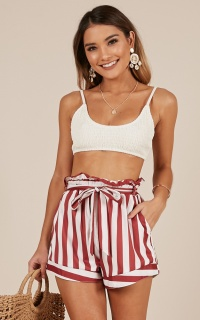 Summer Tide Shorts  chilli stripe