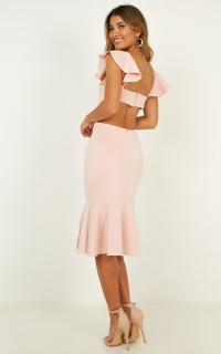 Sunset Dates Dress In Blush