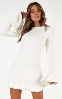 Tell It Like It Is Mini Dress In White