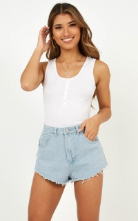True Match Shorts In Light Wash Denim