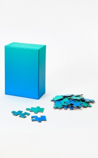 Areaware - Gradient Jigsaw Puzzle In Blue Green