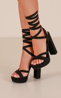Lipstik - Bianca Heels In Black Micro