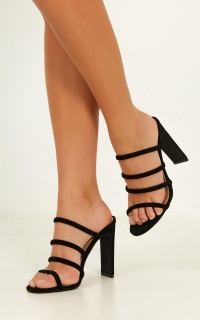 Billini - Daciana Heels In Black Micro