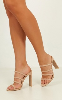 Billini - Daciana Heels In Blush Micro