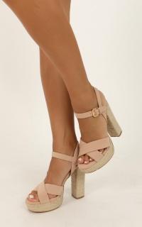 Billini - Estee Heels In Nude Nubuck
