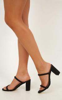 Billini - Rhodes Heels In Black Nubuck