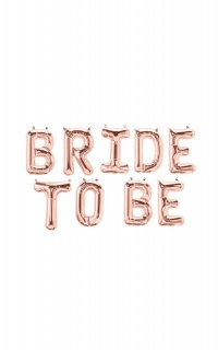 Bride To Be Foil Balloons In Rose Gold