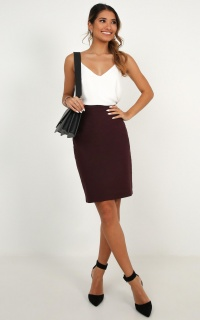 Busy Schedule Skirt In Aubergine