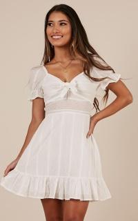 Catching Feelings Dress In White