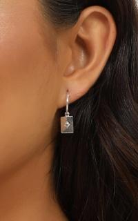 Midsummer Star - Celestial Medallion Sleeper Earrings In Silver