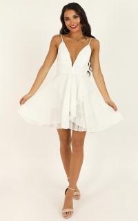 Feels Like Heaven Dress In White