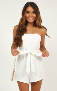 First Priority Playsuit In White