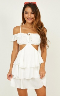 Frill Of Life Dress In White