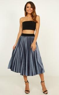 Future Me Skirt In Navy Velvet