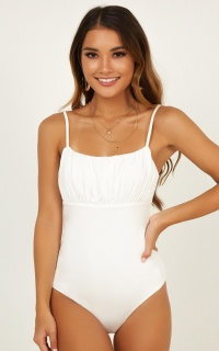 Get You Back Bodysuit In White