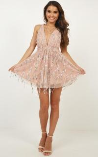 Glitter Me Up Dress In Multi Sequin
