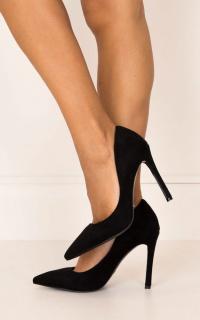 Billini - Faye Heels in black micro