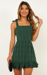 Heavens Above Dress In Emerald