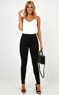I Dont Mind Ponte Pants In Black