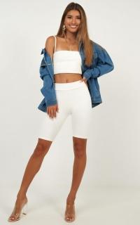 Kiki Shorts In White