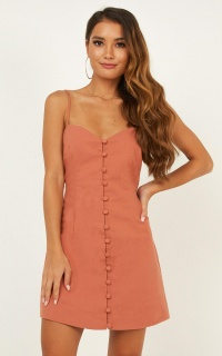 Knew It Dress In Dusty Rose