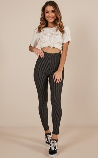 Lost It All pants in black pinstripe