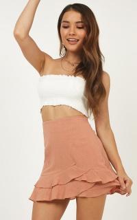 Lillie Rose Skirt In Dusty Rose