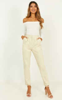Never Be Alone Pants In Cream Cord