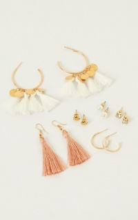 New Light Earring Set In Gold
