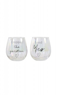 Popped The Question Glass Set