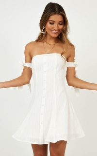Raining Down Dress In White